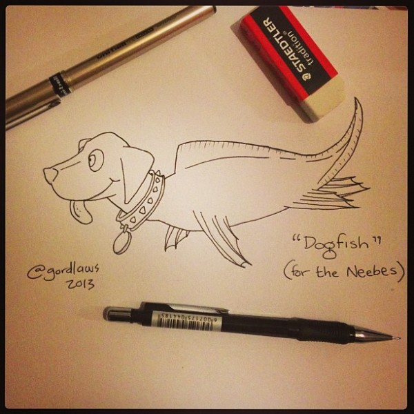 """Toon: """"Dogfish"""" by Gord Laws (2013)"""