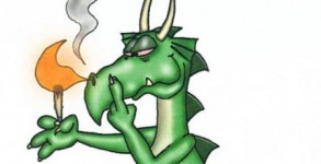 Gord Laws cartoon - Puff the Magic Dragon