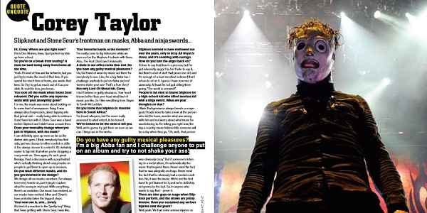 Corey Taylor FHM Q&A by Gord Laws