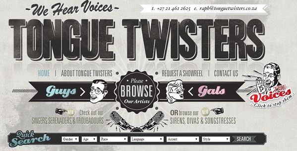 Cape Town-based Voice Agency, Tongue Twisters