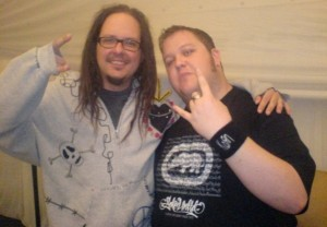 Gord Laws of FHM Southg Africa meeting Jonathan Davis