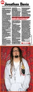 Jonathan Davis FHM South Africa Q&A 2008