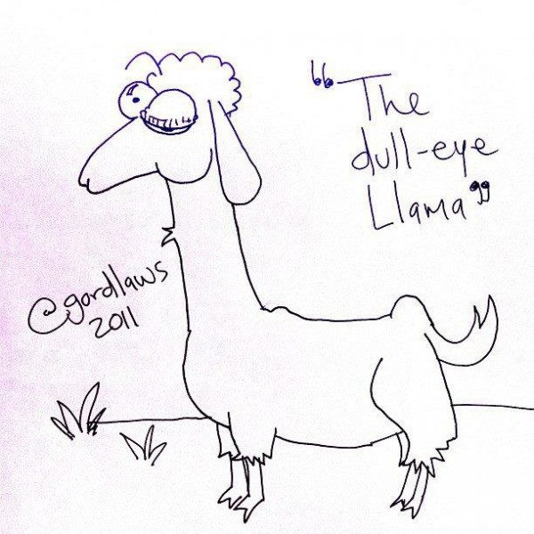"Toon: ""The Dull-Eye Llama"" by Gord Laws (2011)"