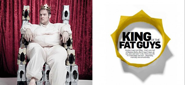 """Gord Laws Archive: """"King of the Fat Guys"""" (Men's Health), 2013 PICA-Award Winner"""