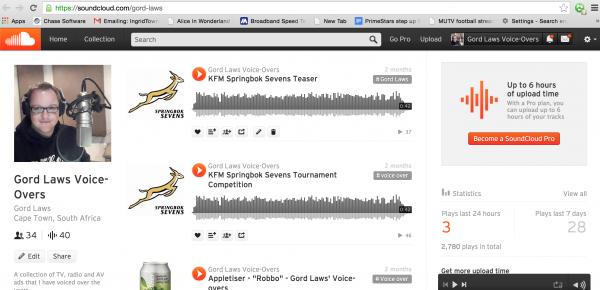Gord Laws': Voice Artist Samples on Soundcloud
