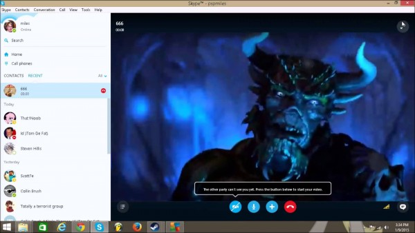Satan on skype