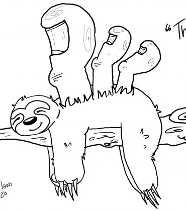 Toon: Three-toed Sloth
