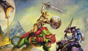 He-man whooping Skeletor's ass