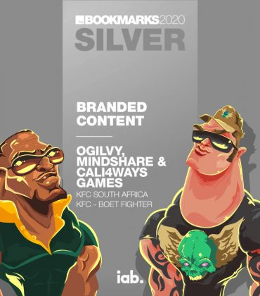Boet Fighter/KFC collab wins Silver and Bronze at 2020 Bookmark (Digital) Awards